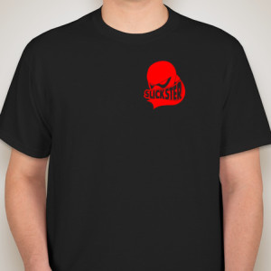 Black and Red ninja logo mens t shirt