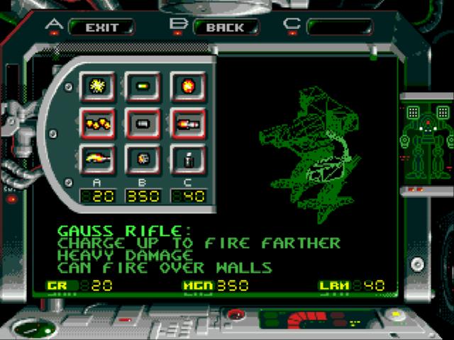 Скриншот 4 battle tech: a game of armored combat (sega)