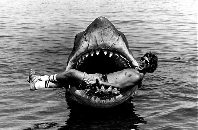 Steven Spielberg in Jaws mouth movie remakes