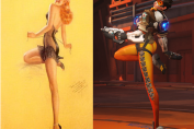 Tracer Pin Up Pose