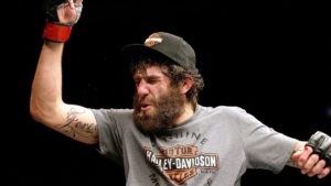 Michael Chiesa celebrates after a victory