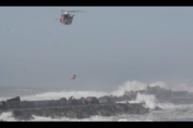 USCG Rescues man on Jetty