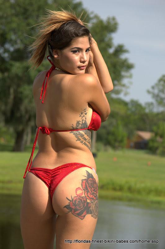 latina string bikini