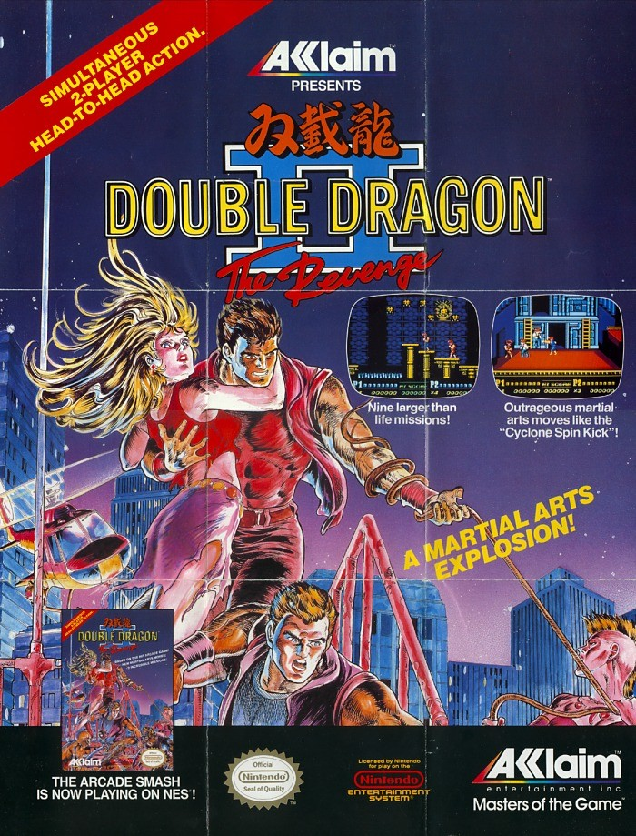 Double Dragon 2 In Store Media Poster Slickster Magazine